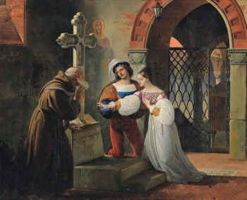 The Marriage of Romeo and Juliet | Francesco Paolo Hayez | oil painting