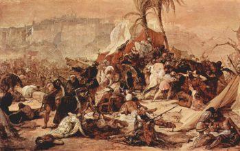 The Seventh Crusade before Jerusalem | Francesco Paolo Hayez | oil painting