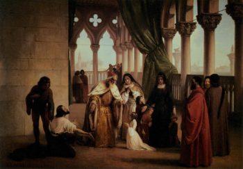 The Two Foscari | Francesco Paolo Hayez | oil painting