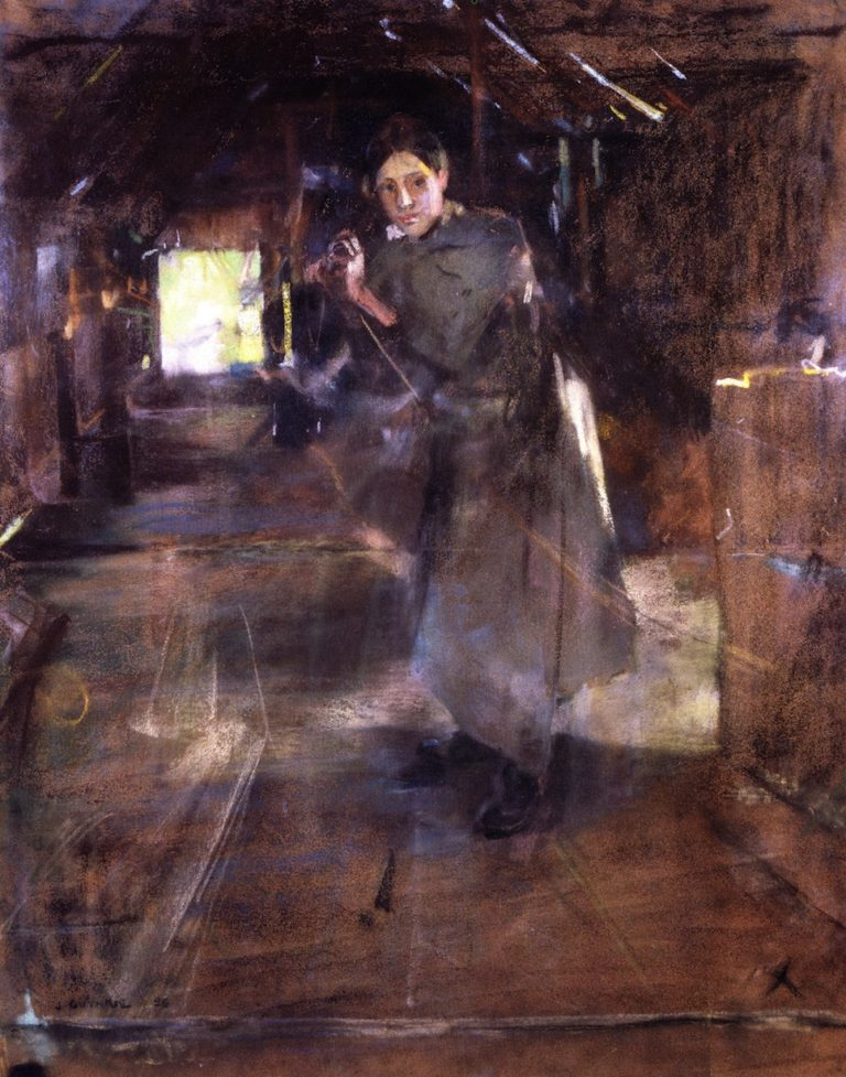 The Ropewalk | James Guthrie | oil painting