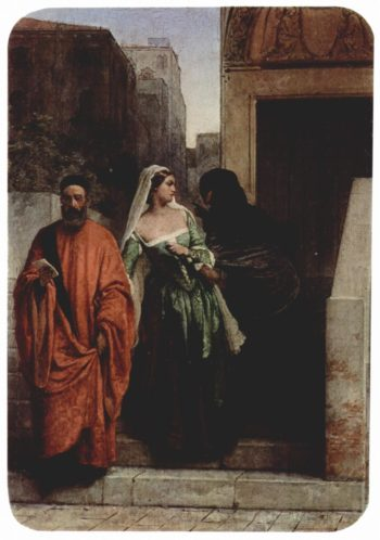 Venetian women | Francesco Paolo Hayez | oil painting