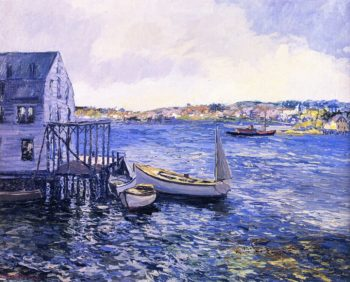 Boothbay Harbor | Edward Willis Redfield | oil painting