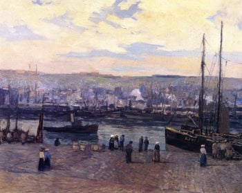 Boulogne Harbor | Edward Willis Redfield | oil painting