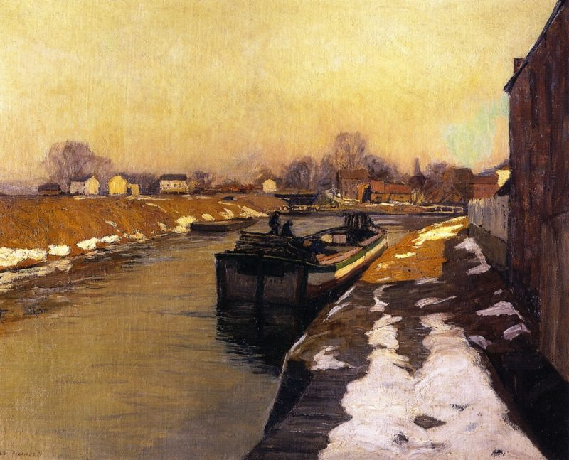 Canal at Lambertville | Edward Willis Redfield | oil painting