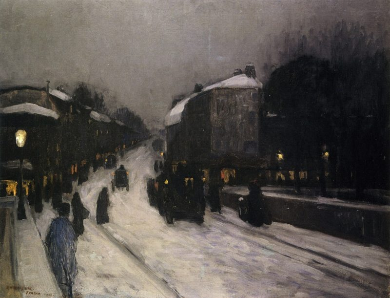 France   Edward Willis Redfield   oil painting