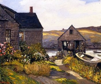 Monhegan Home | Edward Willis Redfield | oil painting