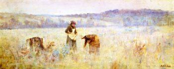 The Mushroom Gatherers   Jane Sutherland   oil painting