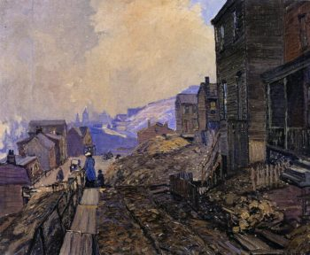 Overlooking Soho PIttsburgh | Edward Willis Redfield | oil painting