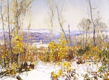 Overlooking the Delaware | Edward Willis Redfield | oil painting