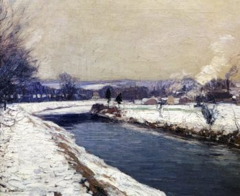 The Canal Stockton | Edward Willis Redfield | oil painting