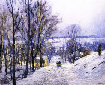 The Green Sleigh | Edward Willis Redfield | oil painting