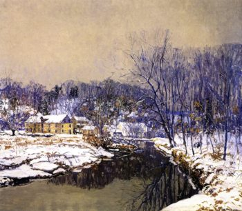 The Mill in Winter | Edward Willis Redfield | oil painting