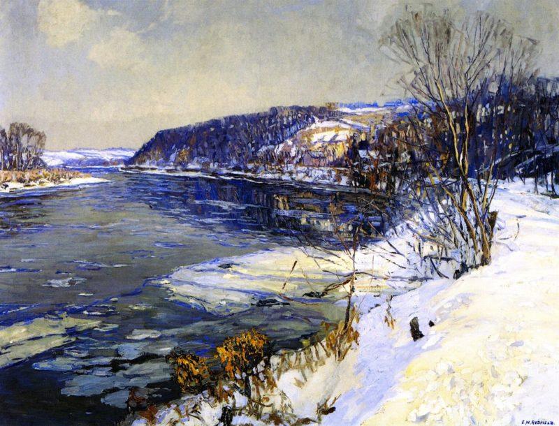 The Upper Delaware | Edward Willis Redfield | oil painting