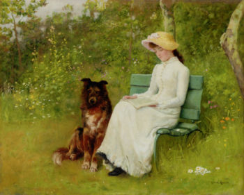 A Quiet Read | Edwin Harris | oil painting