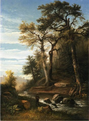 Fisherman by a Stream | John Williamson | oil painting