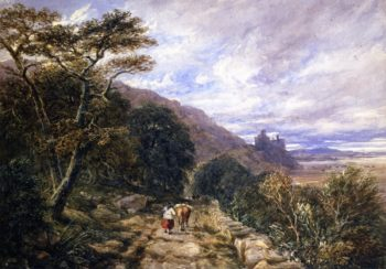 A Country Track Leading to Harlech Castle | David Cox | oil painting