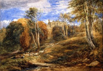 Barden Tower Yorkshire   David Cox   oil painting