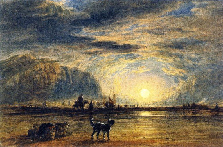 Beach Scene Sunrise | David Cox | oil painting