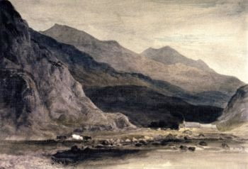 Beddgelert Mill and Bridge | David Cox | oil painting