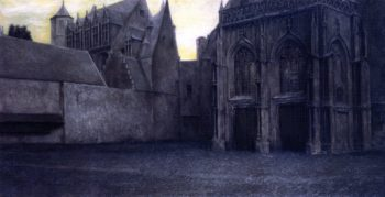 In Bruges A Portal | Fernand Khnopff | oil painting