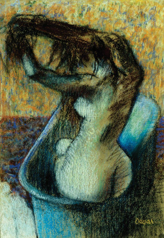 Woman Bathing | Edgar Degas | oil painting