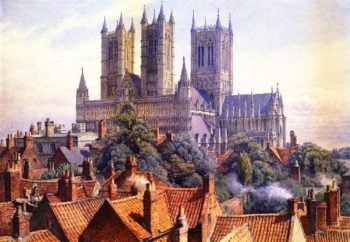 Lincoln Cathedral | Charles Herbert Moore | oil painting