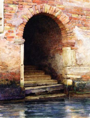 Old Doorway Venice | Charles Herbert Moore | oil painting
