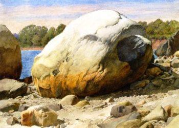 Rocks by the Water | Charles Herbert Moore | oil painting