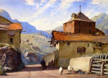 Street near Simplon Village | Charles Herbert Moore | oil painting