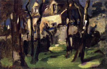 Cottage at Corstorphine | Samuel John Peploe | oil painting