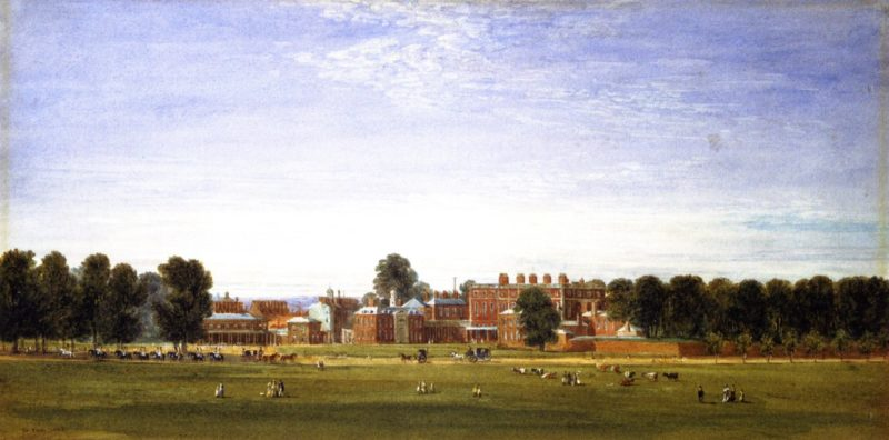 Buckingham House from the Green Park | David Cox | oil painting