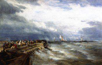 Calais Pier | David Cox | oil painting