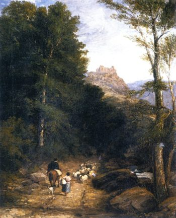 Carreg Cennan Castle | David Cox | oil painting