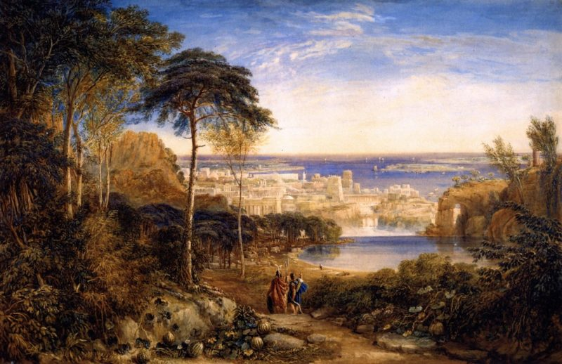 Carthage Aeneas and Achates | David Cox | oil painting