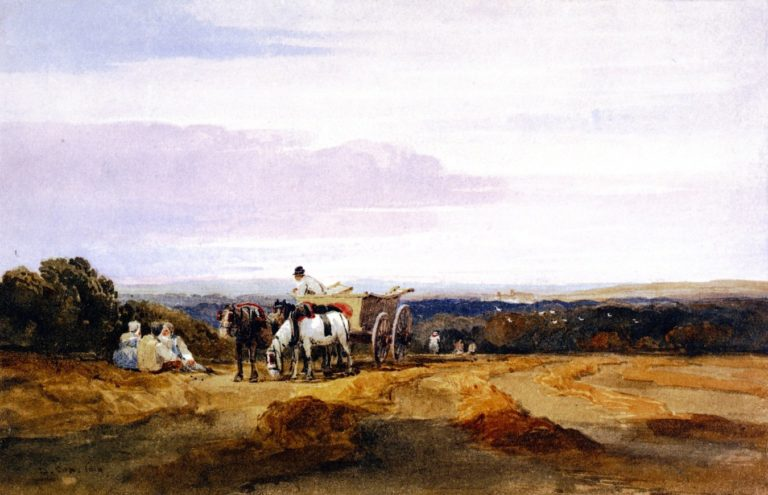 Cornfield   David Cox   oil painting