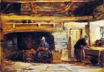 Cottage Interior | David Cox | oil painting