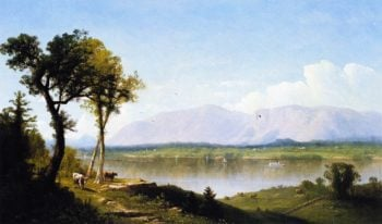 The Hudson at the Catskill Mountain House | John Williamson | oil painting