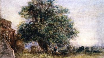 Darley Churchyard | David Cox | oil painting