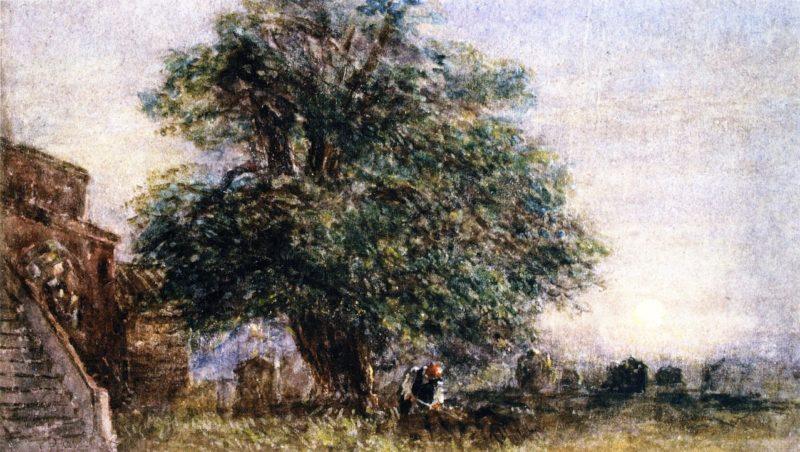 Darley Churchyard | David Cox | oil painting