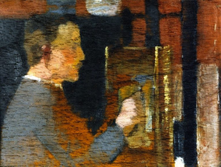 James Guthrie at His Easel | Joseph Crawhall | oil painting