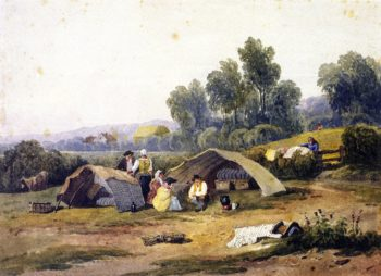 Gipsies on Dulwich Common | David Cox | oil painting