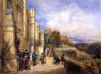 Going Out Hawking | David Cox | oil painting