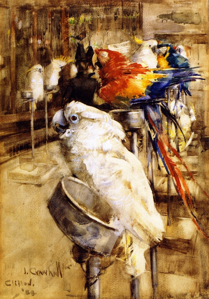 The Aviary Clifton | Joseph Crawhall | oil painting