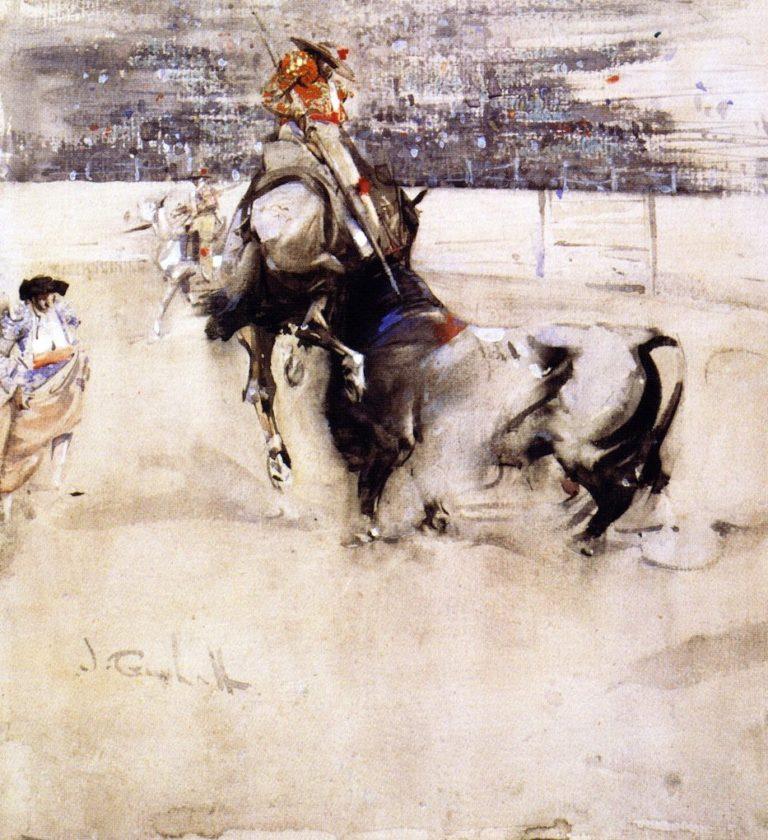 The Bullfight | Joseph Crawhall | oil painting