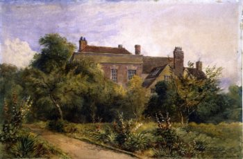 Greenfield House Harorne | David Cox | oil painting