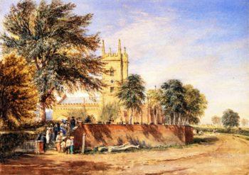 Handsworth Old Church Birmingham | David Cox | oil painting