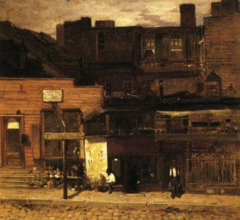 Duane Street New York | Louis Comfort Tiffany | oil painting