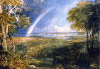 Junction of the Severn and the Wye with a Rainbow | David Cox | oil painting