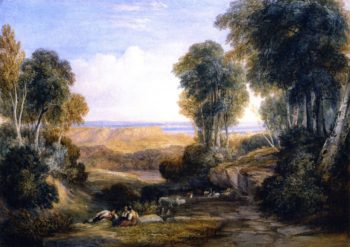 Junction of the Severn and the Wye with Chepstow in the Distance | David Cox | oil painting