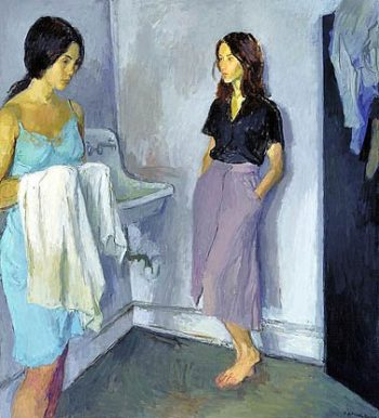 Annunciation   Raphael Soyer   oil painting